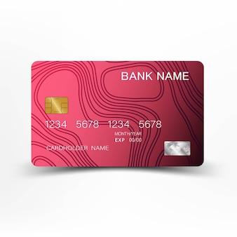 Lussuosa carta di credito rosa.