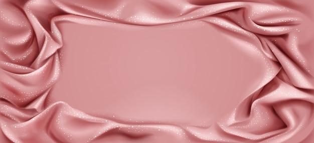 Lussuosa cornice tessile piegata con centro liscio