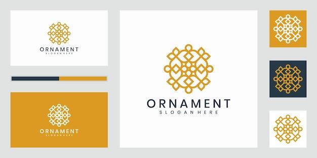 Lussuoso logo di design ornamentale che ispira