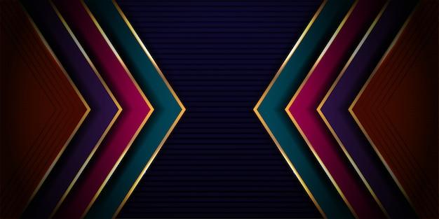 Lussuoso moderno di astratto dinamico con design futuristico e sfondo stile 3d