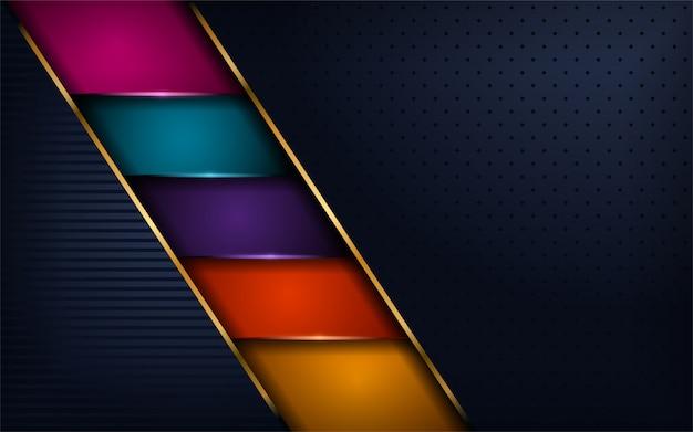 Lussuoso moderno sfondo colorato