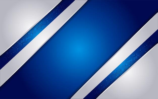 Lussuoso sfondo astratto blu con linee bianche