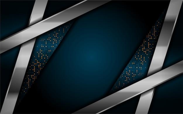 Lussuoso sfondo blu scuro con linee argento