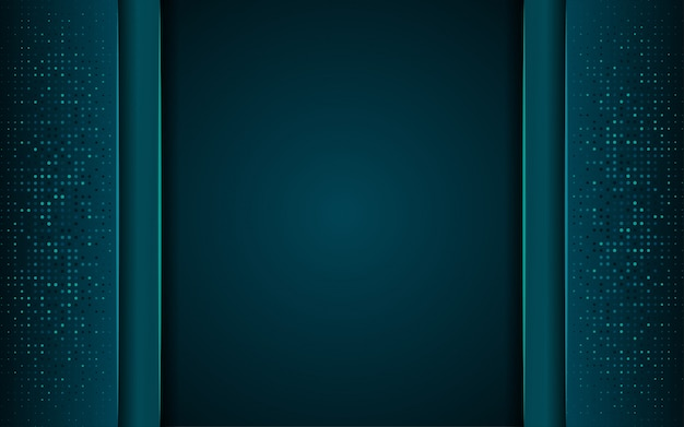 Lussuoso sfondo blu scuro con una combinazione di linea argento metallico in stile 3d