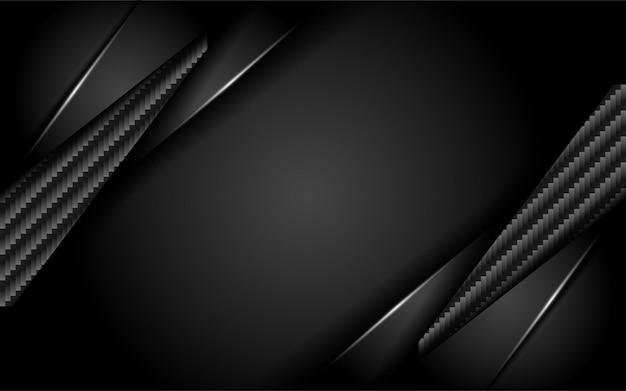 Lussuoso sfondo in carbonio scuro con strato di sovrapposizione