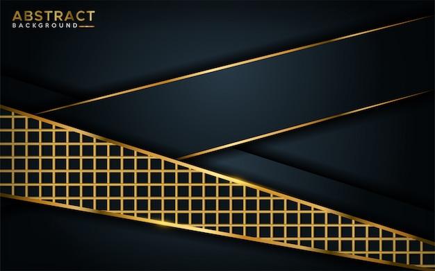 Lussuoso sfondo scuro con elemento di linea dorata.