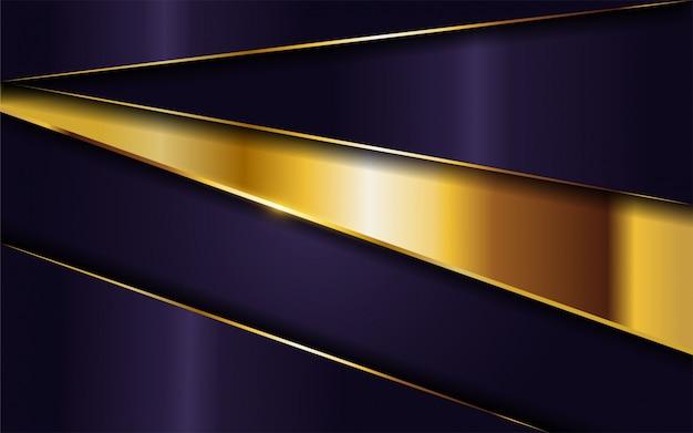 Lussuoso sfondo viola scuro con combinazione di linee dorate.