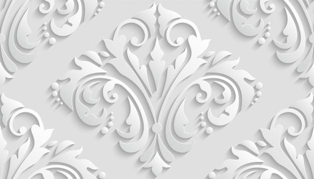 Luxury 3d damask pattern per carta da parati