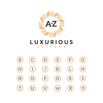 Luxury letter az set logo designtemplate