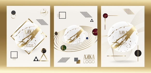 Luxury premium menu cover design geometric