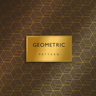 Luxury premium pattern design geometric