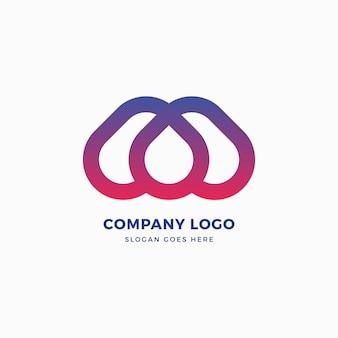 M lettera drop logo design