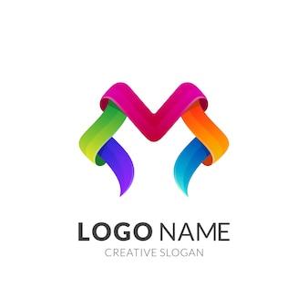 M logo design colorato