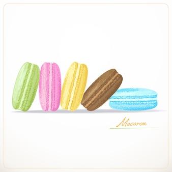 Macarons francesi variopinti