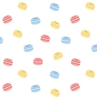 Macarons seamless pattern background