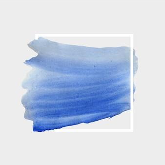 Macchia dell'acquerello sfondo bianco geometrico