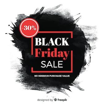 Macchia nera dell'acquerello venerdì nero