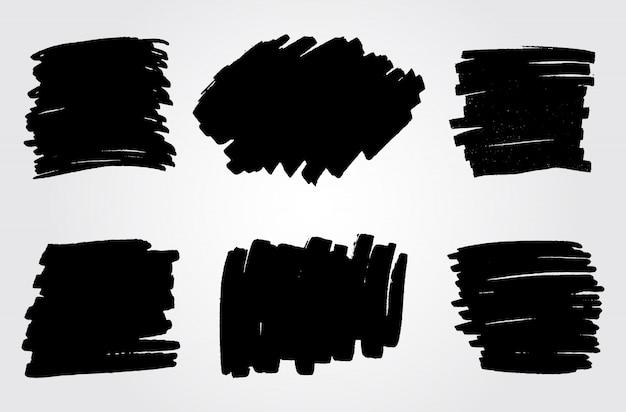 Macchie di pennarello disegnate a mano