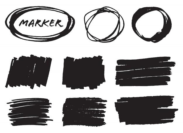 Macchie di pennarello nero