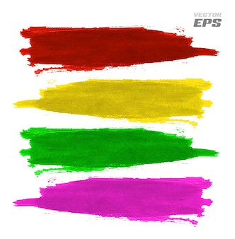 Macchie di vernice vettoriale colore splat con effetto texture di carta