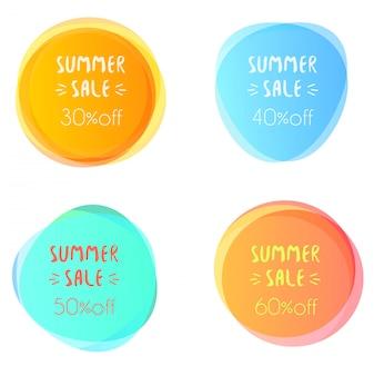 Macchie luminose con testo di vendita estiva