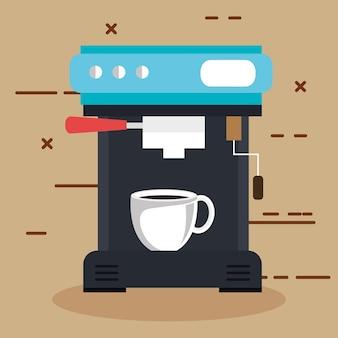 Macchina da caffè con una tazza può essere utilizzata per il ristorante di casa