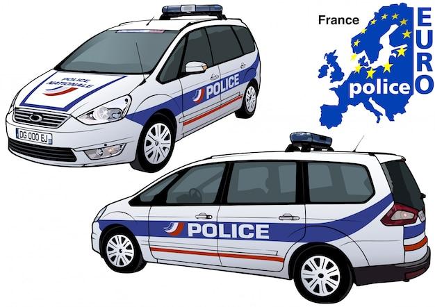 Macchina della polizia francese
