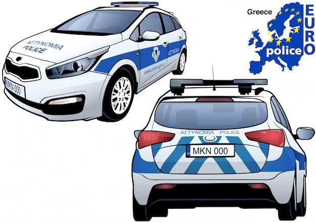 Macchina della polizia greca