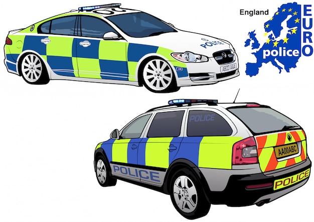 Macchina della polizia inglese