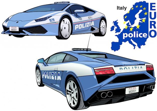 Macchina della polizia italiana