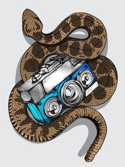 Macchina fotografica del serpente