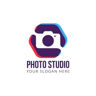 Macchina fotografica vettoriale logo studio fotografico