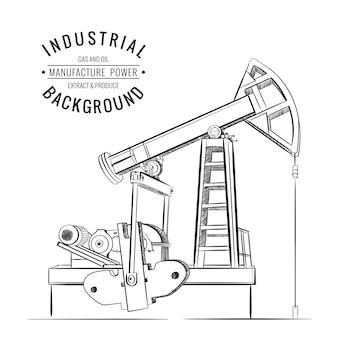 Macchina industriale pompa olio