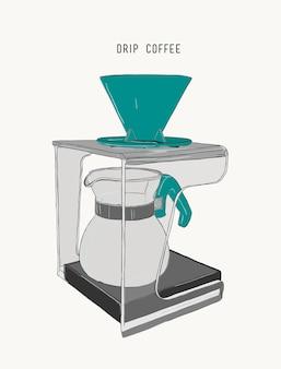 Macchina per il caffè con filtro antigoccia