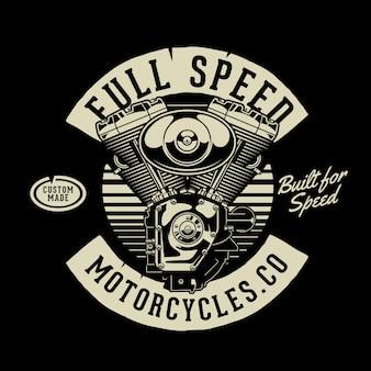 Macchina per moto a velocità piena