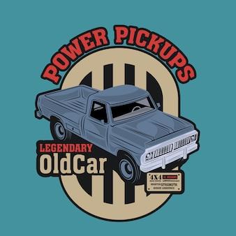 Macchina pick-up classica con motore di studio