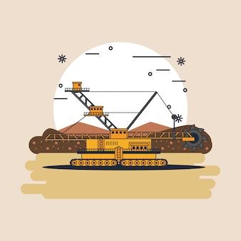 Macchinario idraulico dell'escavatore