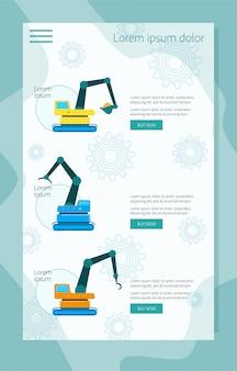 Macchine per tecnica di costruzione per banner d'acquisto