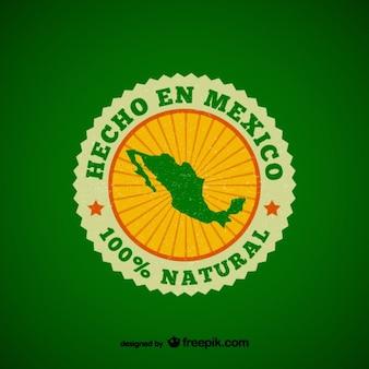 Made in mexico distintivo