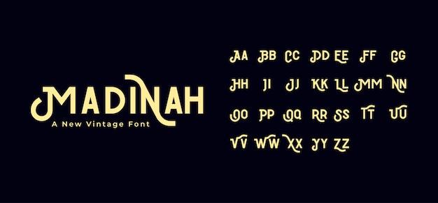 Madinah vintage font