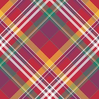 Madras estivi in tessuto a quadri senza cuciture a quadri rossi