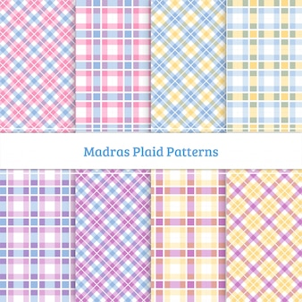 Madras plaid pattern