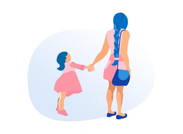 Madre e figlia isolate su fondo bianco