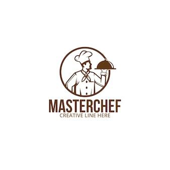 Maestro chef, un design per affari, azienda, ristorante, cibo ecc