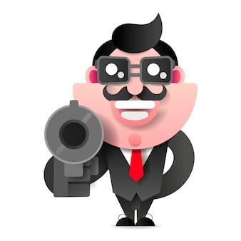 Mafioso con gun