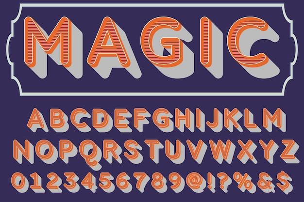 Magia del design tipografico dell'etichetta