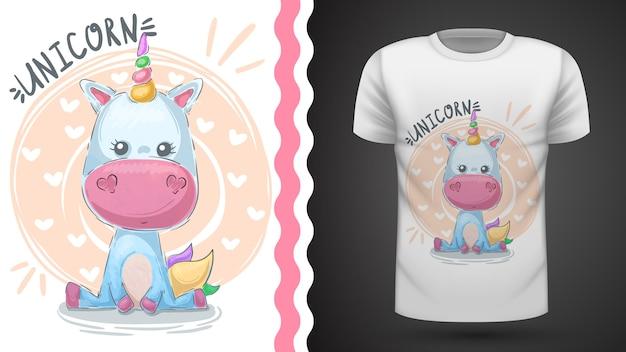 Magia, unicorno - idea per t-shirt stampata