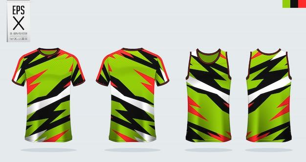 Maglia da calcio, kit da calcio, modello uniforme da basket.