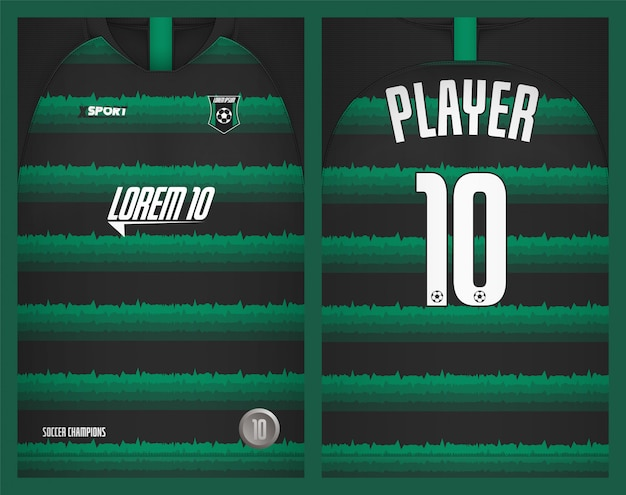 Maglia da calcio modello sportivo t-shirt design