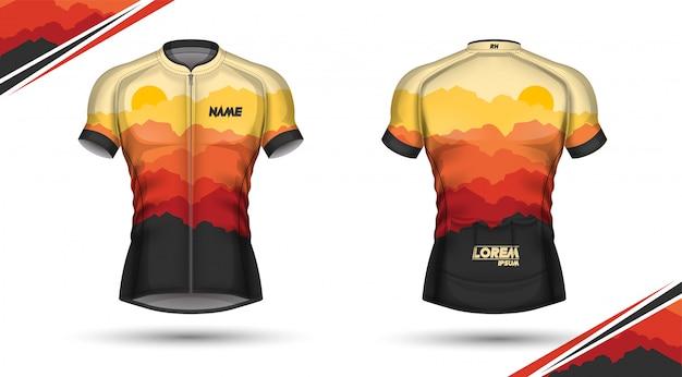 Maglia da ciclismo, davanti e dietro